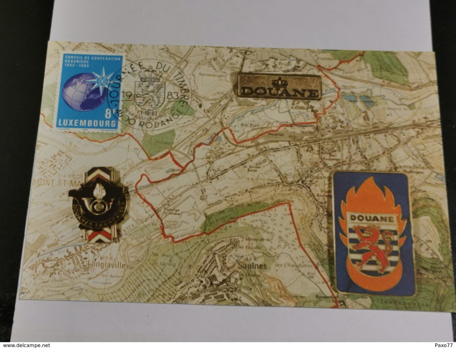 Luxembourg, Douane - Maximum Cards