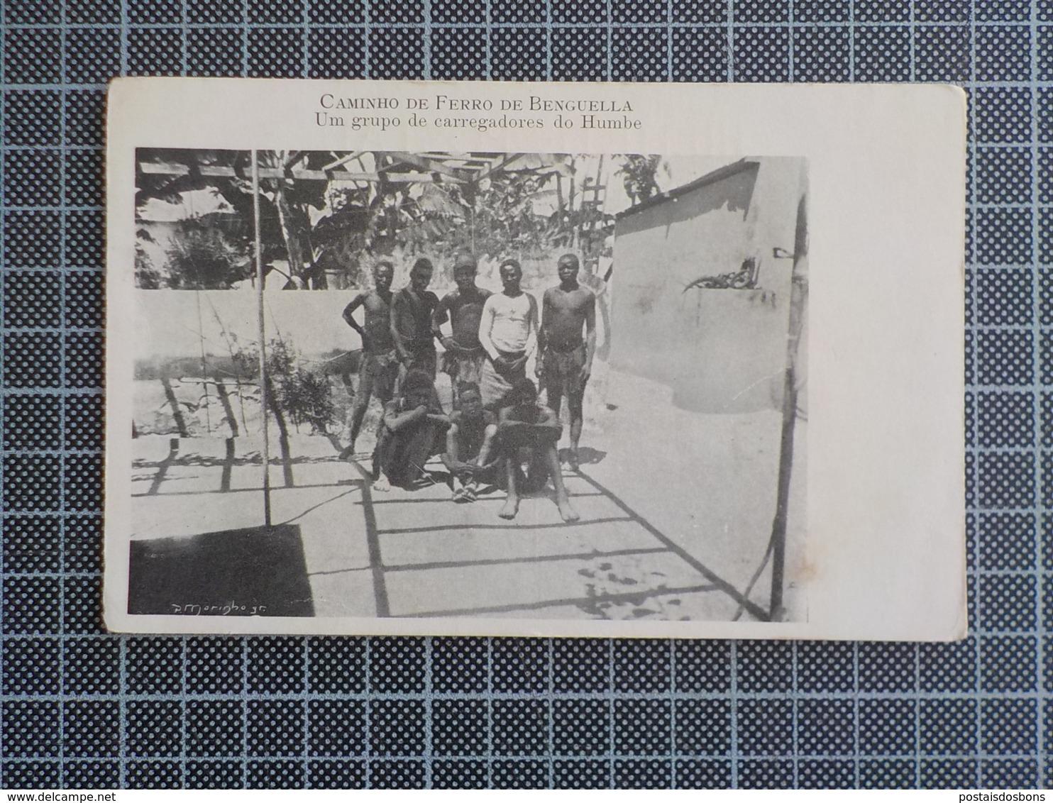 11.375) Africa Portuguesa Angola Caminho De Ferro De Benguela Grupo De Carregadores Do Humbe P. Marinho Railway - Angola