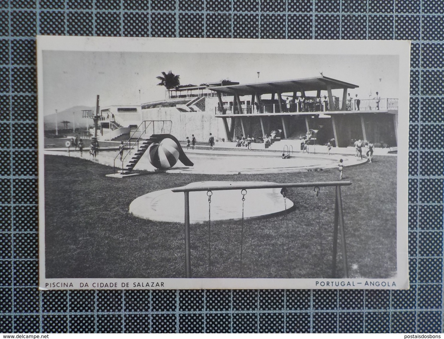 11.476) Africa Portuguesa Angola Piscina Da Cidade De Salazar 1972 Publicidade FLY TAP - Angola
