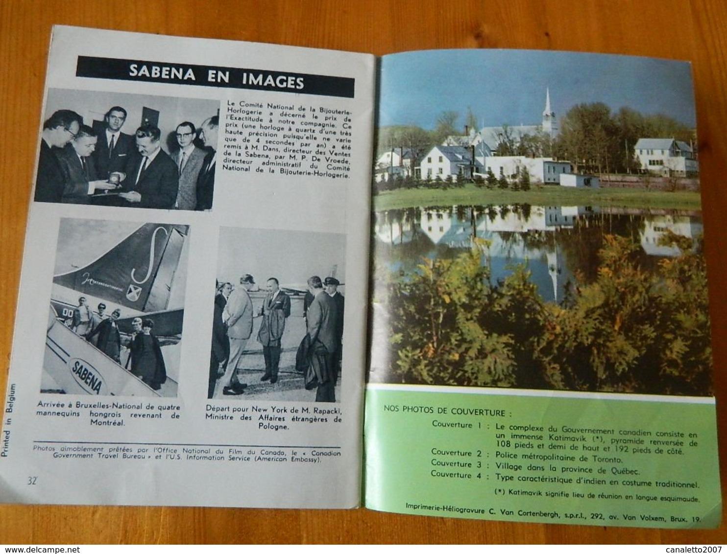 AVIATION +SABENA:MAGAZINE SABENA NOVEMBRE 1966 EXPO 67 MONTREAL -32 PAGES - Avion