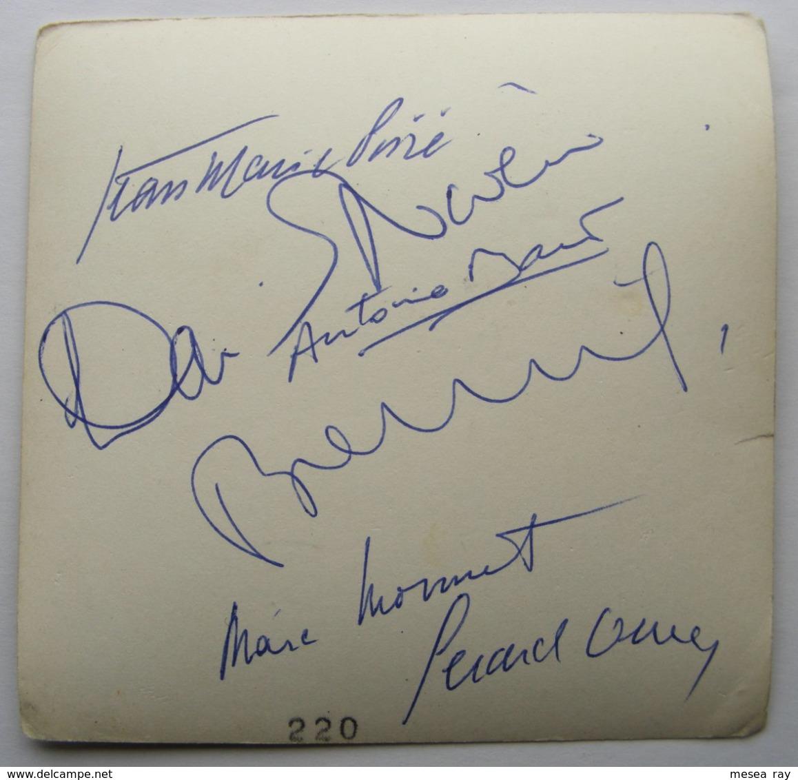 Gerard Oury Dédicace Tournage Le Cerveau Le Havre Photo Originale Dédicacée Bourvil David Niven 1968 3/19 - Signiert