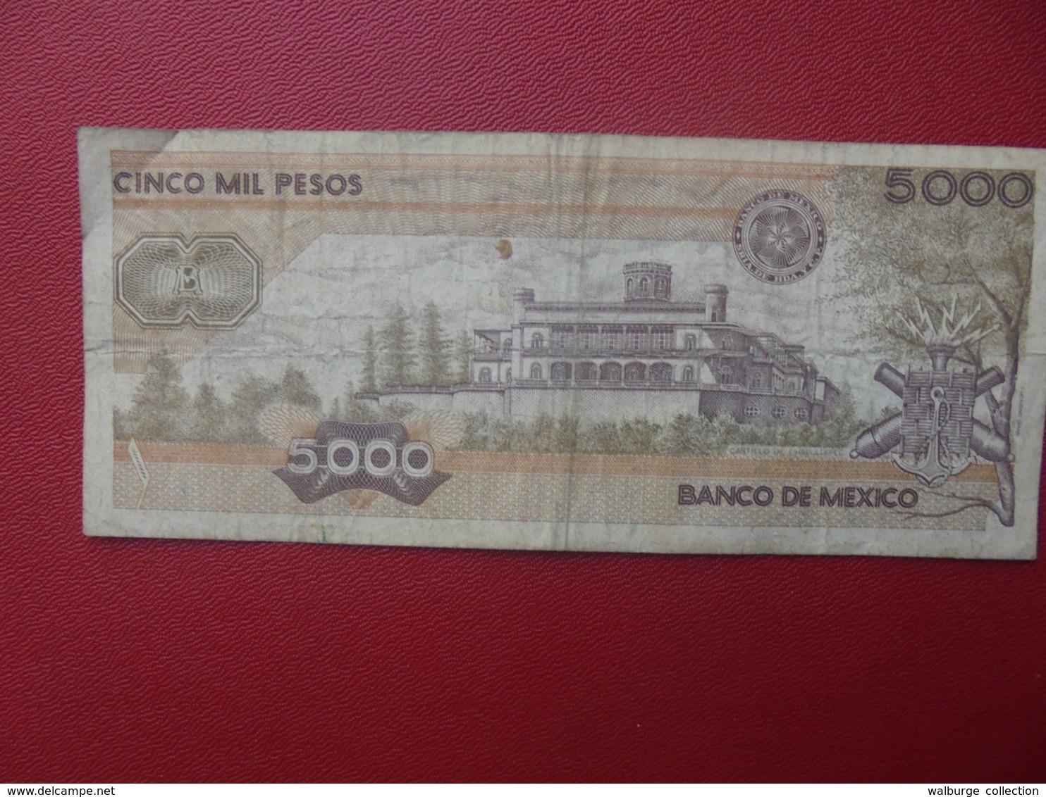 MEXIQUE 5000 PESOS 1987 CIRCULER (B.8) - Mexico