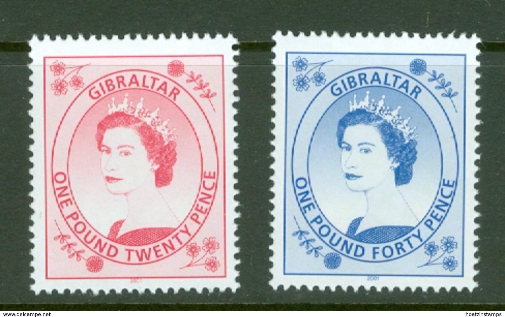 Gibraltar: 1999/2001   QE II Definitives Set   SG857-871    MNH - Gibilterra