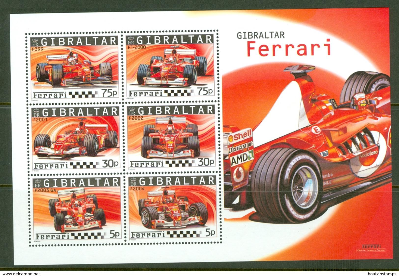 Gibraltar: 2004   Ferrari   M/S   MNH - Gibilterra