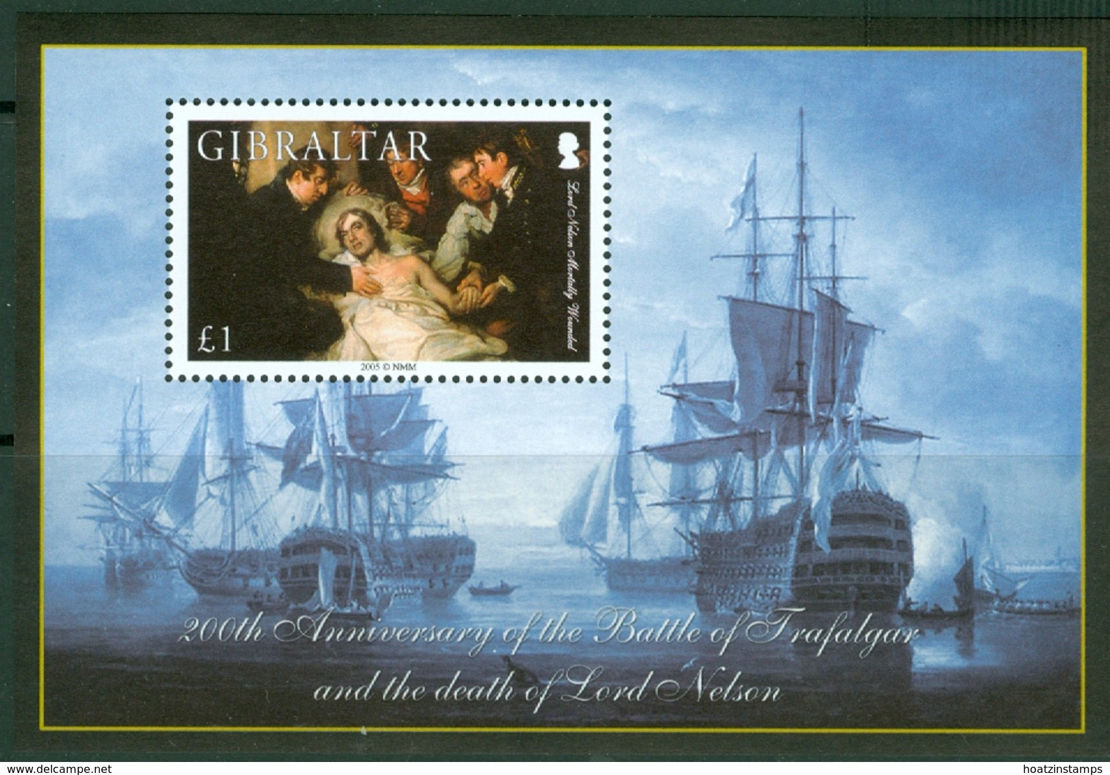 Gibraltar: 2005   Bicentenary Of Battle Of Trafalgar (Series 2)  M/S (x3)  MNH - Gibilterra