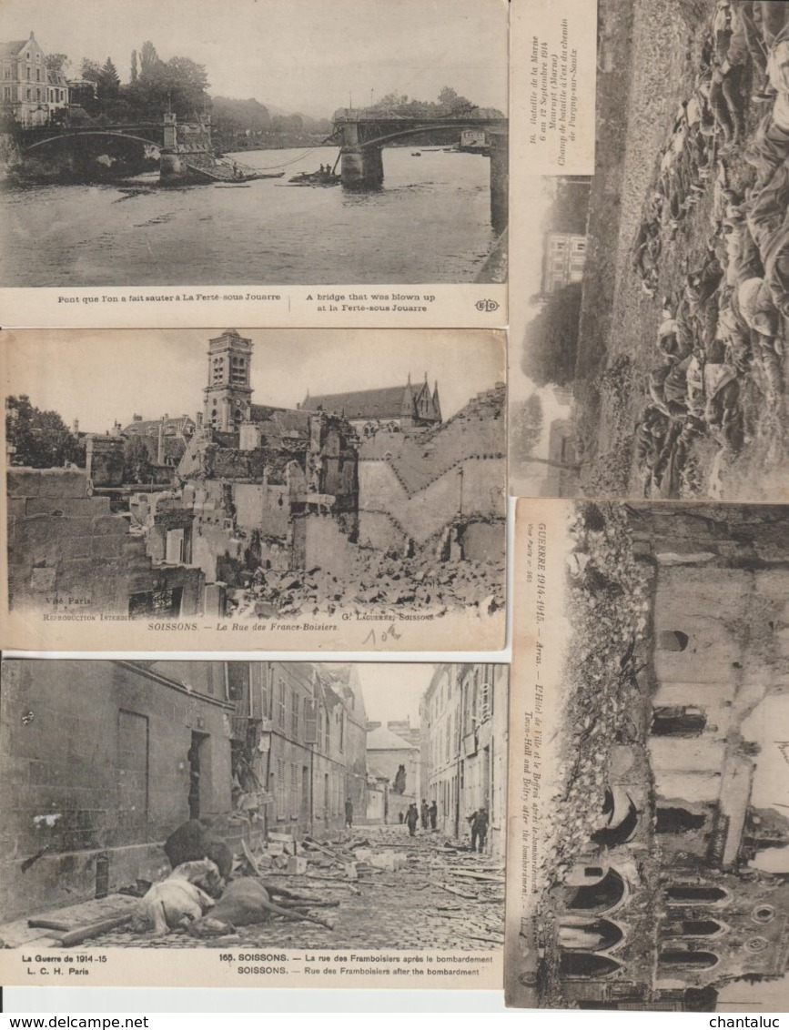 N 168  Lot 100 CPA Différentes De La Guerre 14-18 - Cartes Postales