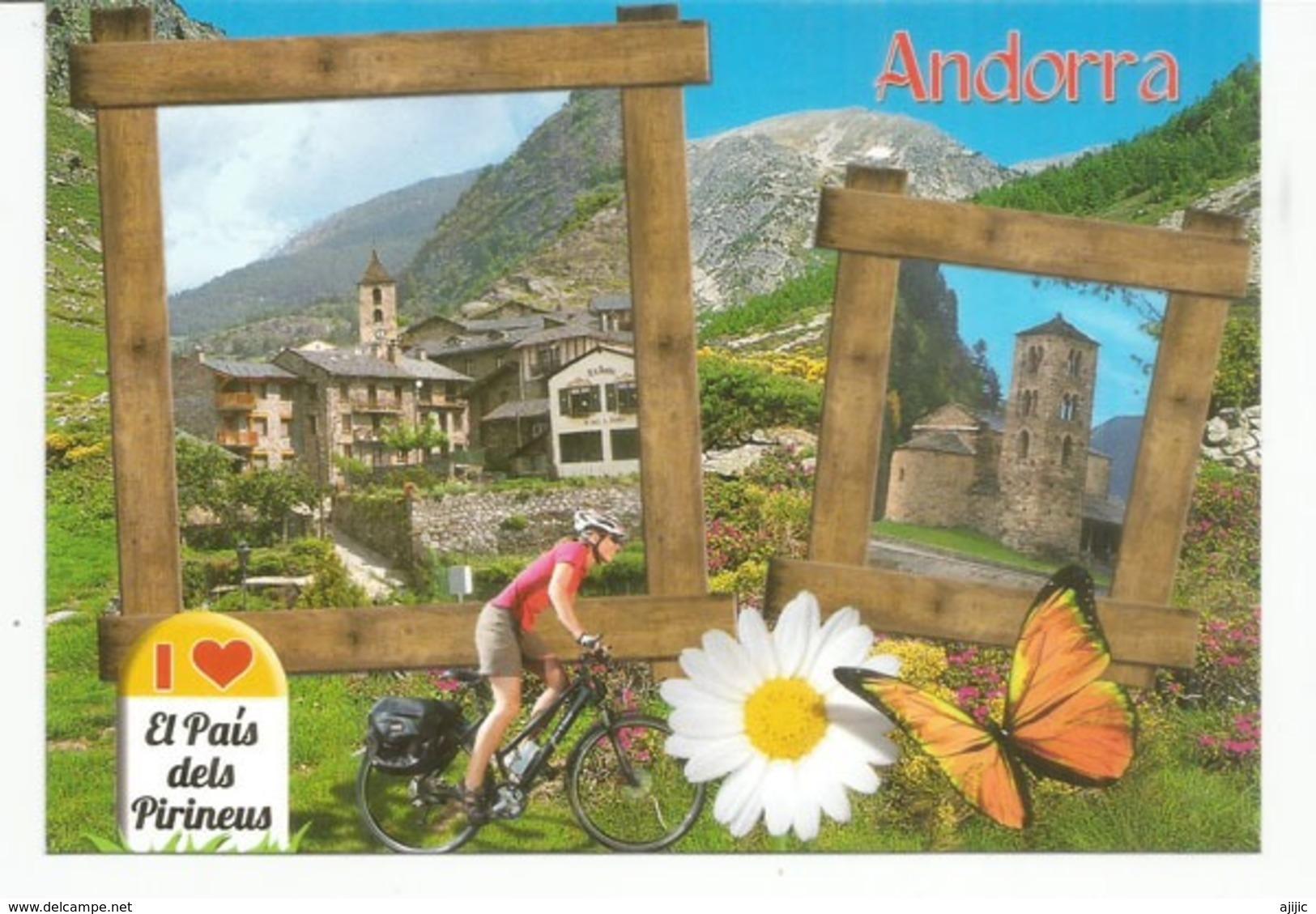 Andorra El Pais Dels Pireneus. Le Pays Du Cyclisme. Nouvelle Carte Postale Neuve, Non Circulée. - Andorre