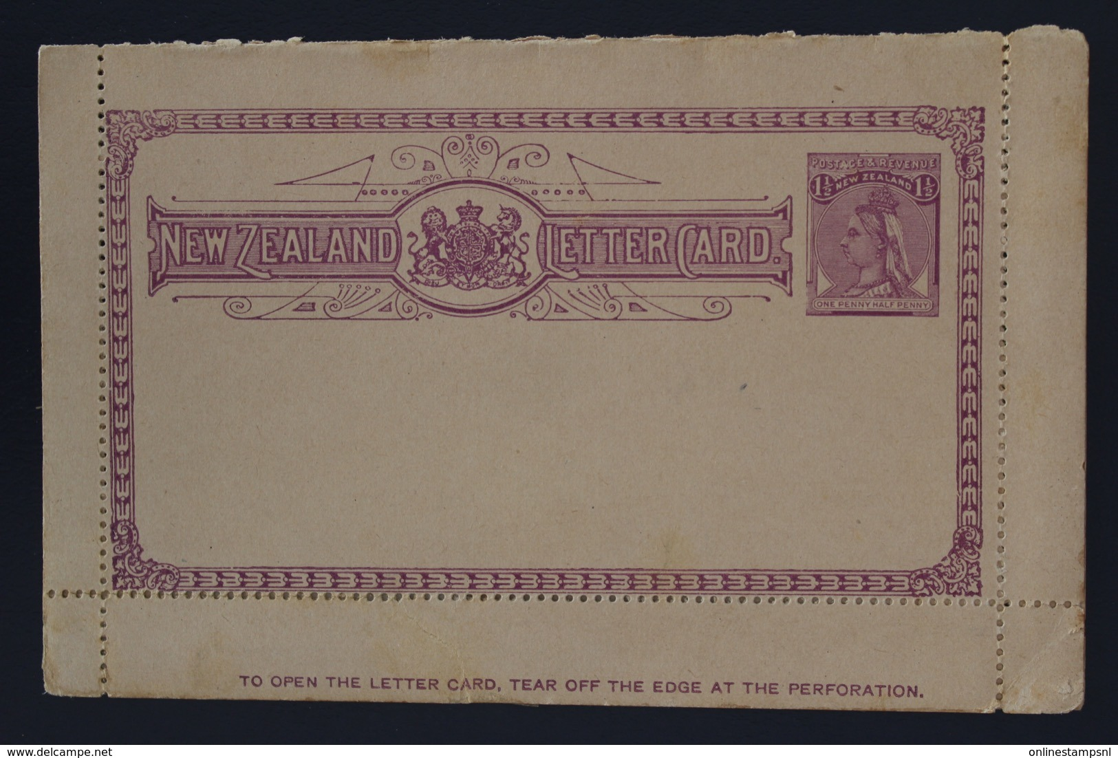 New Zealand Lettercard Letter Card Not Used 1895 - Briefe U. Dokumente