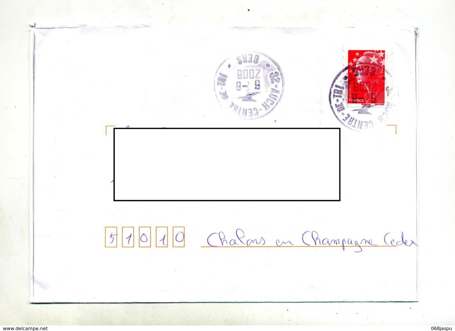 Lettre Cachet Auch Tri - Marcophilie (Lettres)