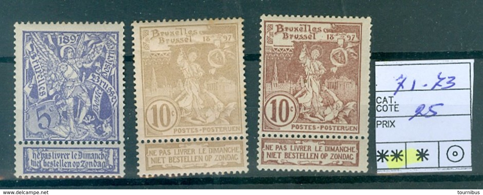 71-73 Xx COB  25 - 1894-1896 Ausstellungen