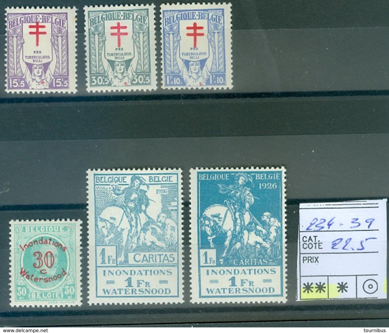 234-239  Xx    COB  22.50€ - 1919-1920 Behelmter König