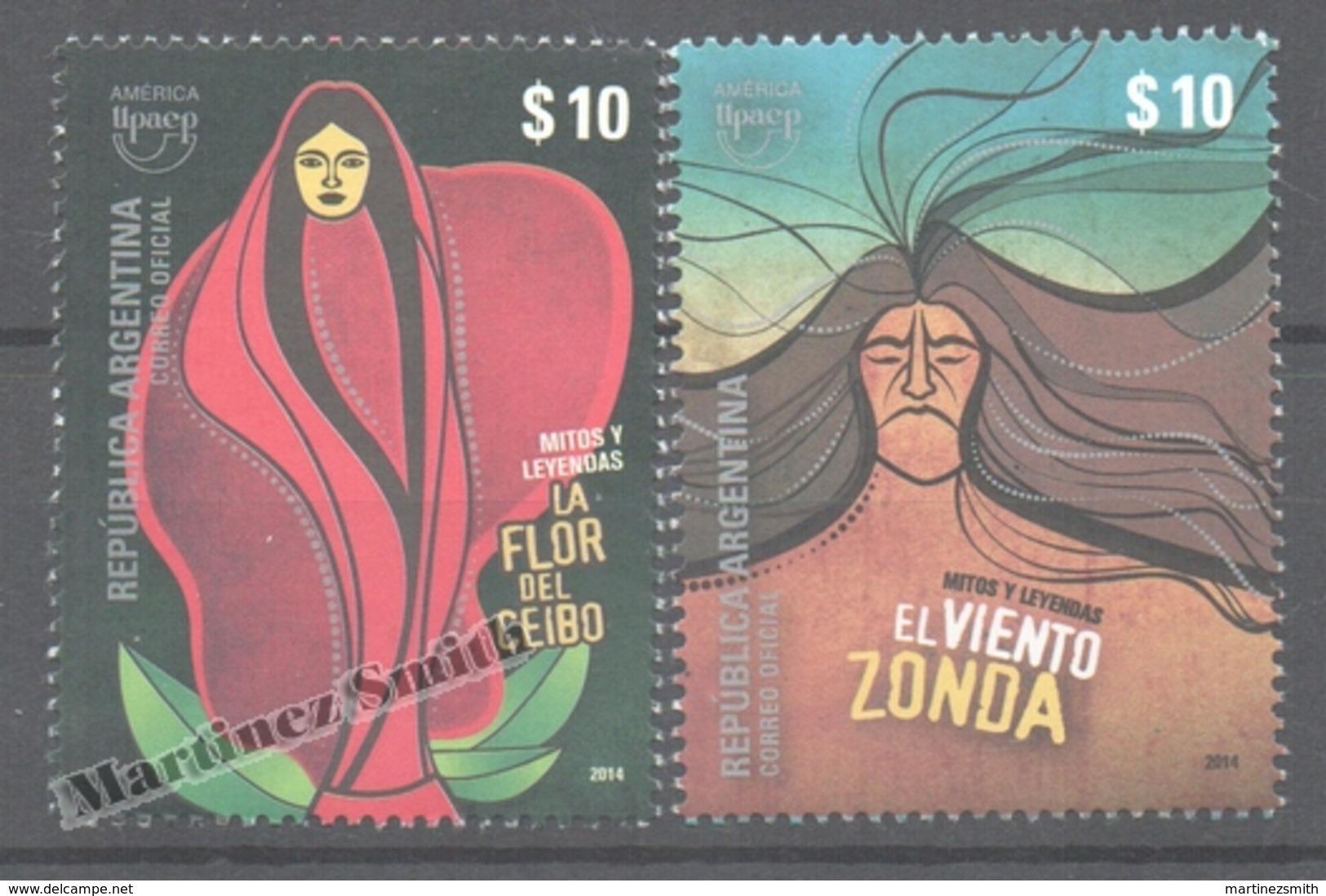 Argentina 2014 Yvert 3044- 45, America UPAEP, Myths And Legends  - MNH - Neufs