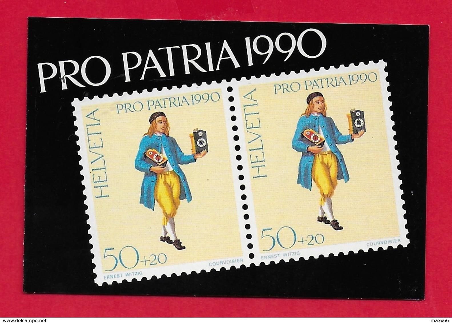 LIBRETTO SVIZZERA MNH - PRO PATRIA 1990 - 10 X 50 + 20 Cent. - Pro Patria