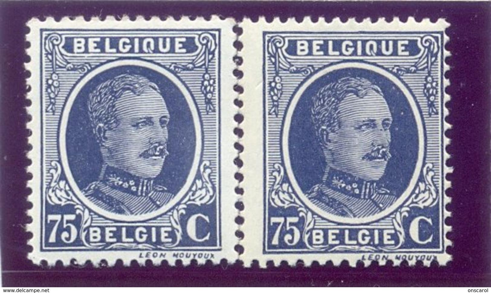 Nr. 204 -V2 Eerste E Dik In Belgique Postgaaf ** MNH Zeer Mooi - Variétés (Catalogue COB)