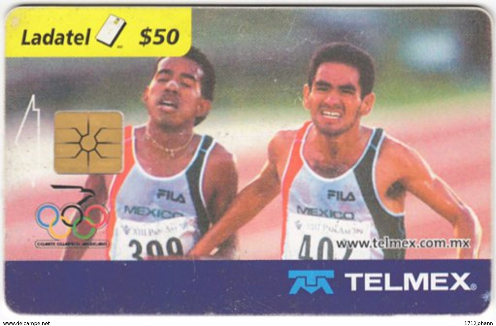 MEXICO B-070 Chip Telmex - Event, Sport, Olympic Games, Running - Used - Mexiko