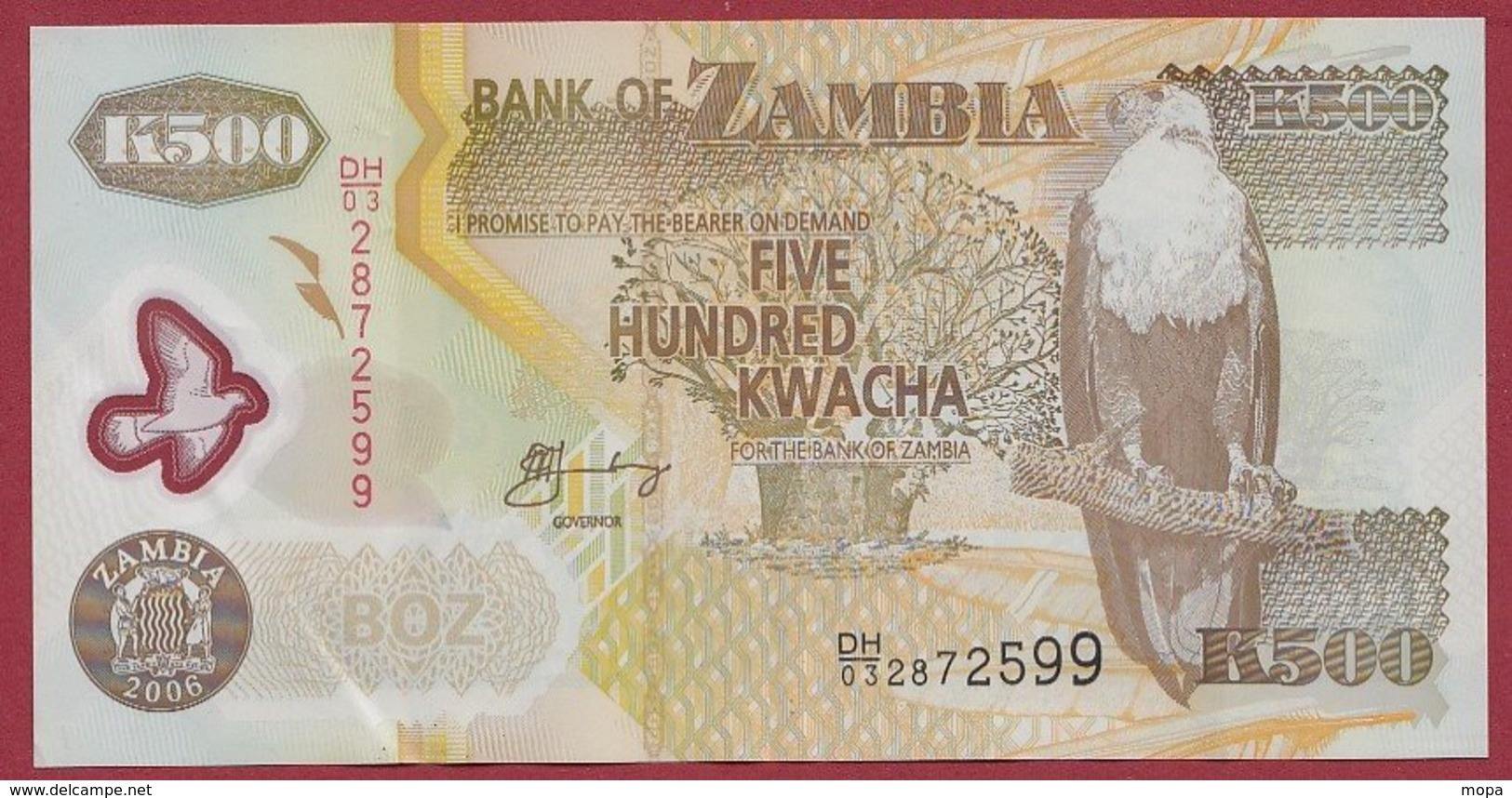 Zambie 500 Kwacha  2006   Dans L 'état N°43 - Zambia