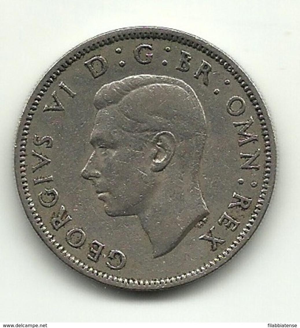1947 - Gran Bretagna 2 Shillings - 1902-1971 : Monete Post-Vittoriane