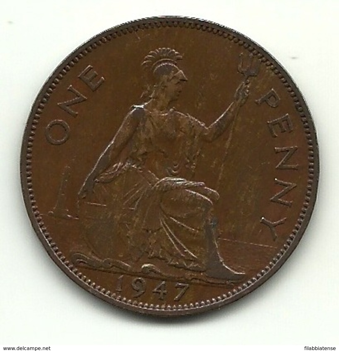 1947 - Gran Bretagna 1 Penny - 1902-1971 : Monete Post-Vittoriane