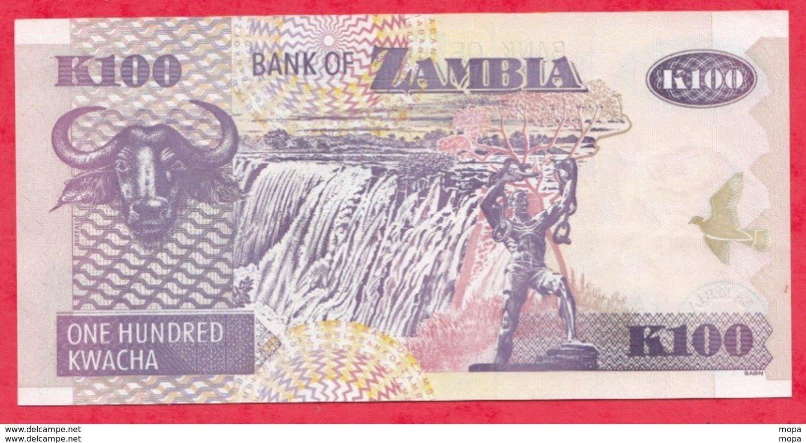Zambie 100 Kwacha 2003 (sign 12)  UNC N °61 - Zambie
