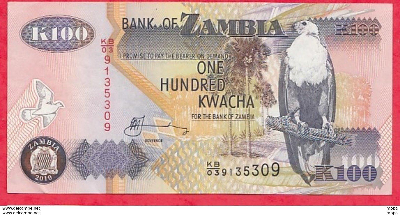 Zambie 100 Kwacha 2010 (sign 12) Bon  état N °65 - Zambie
