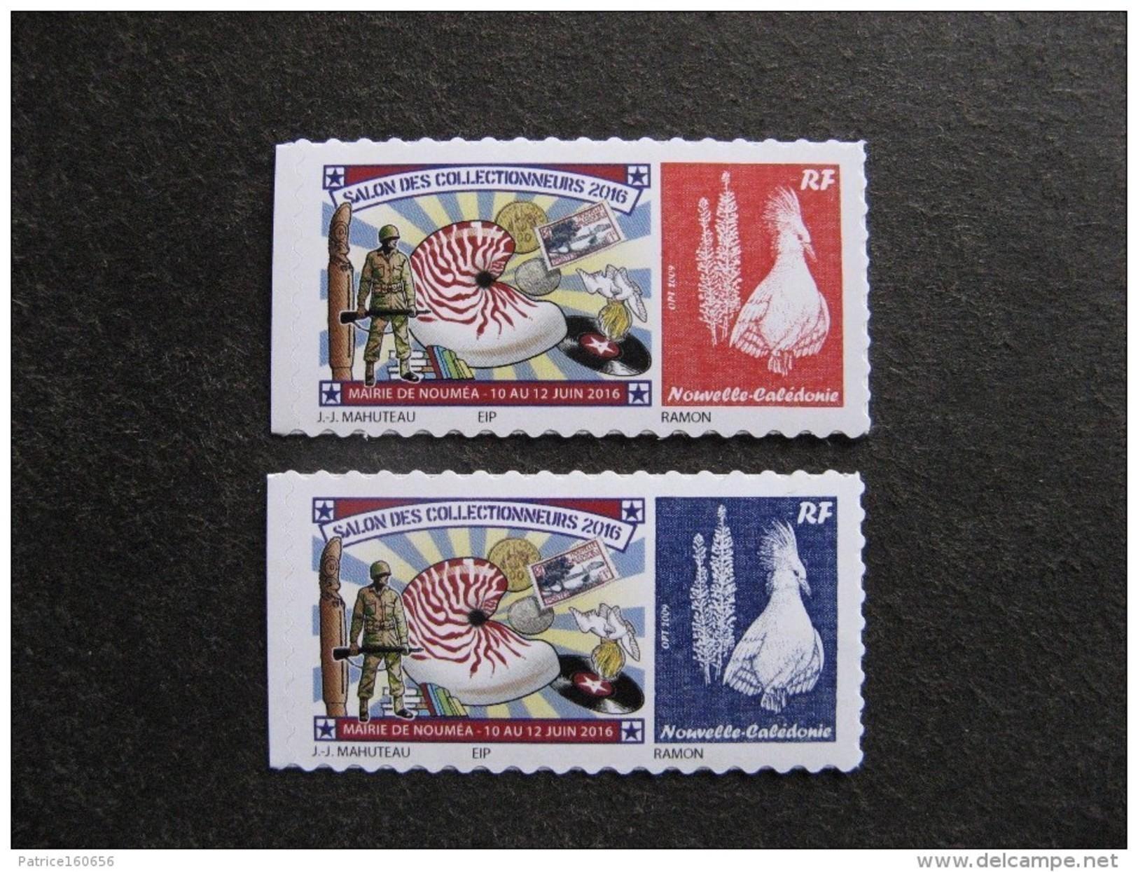 """Nouvelle-Calédonie: Paire N° 1275/1276 """" Salon Des Collectionneurs """", Mairie De Nouméa Du 10 Au 12 Juin 2016, Neufs XX . - Nuevos"""