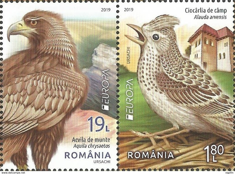 RO 2019-09 EUROPA CEPT, ROMANIA, 1 X 2v, MNH - 2019