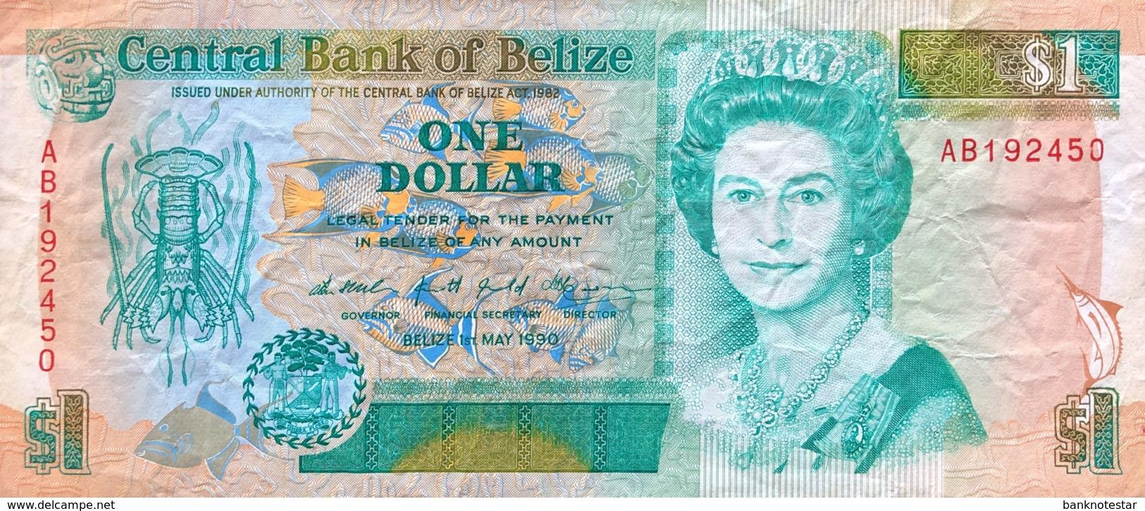 Belize 1 Dollar, P-51 (1.5.1990) - Fine - Belize