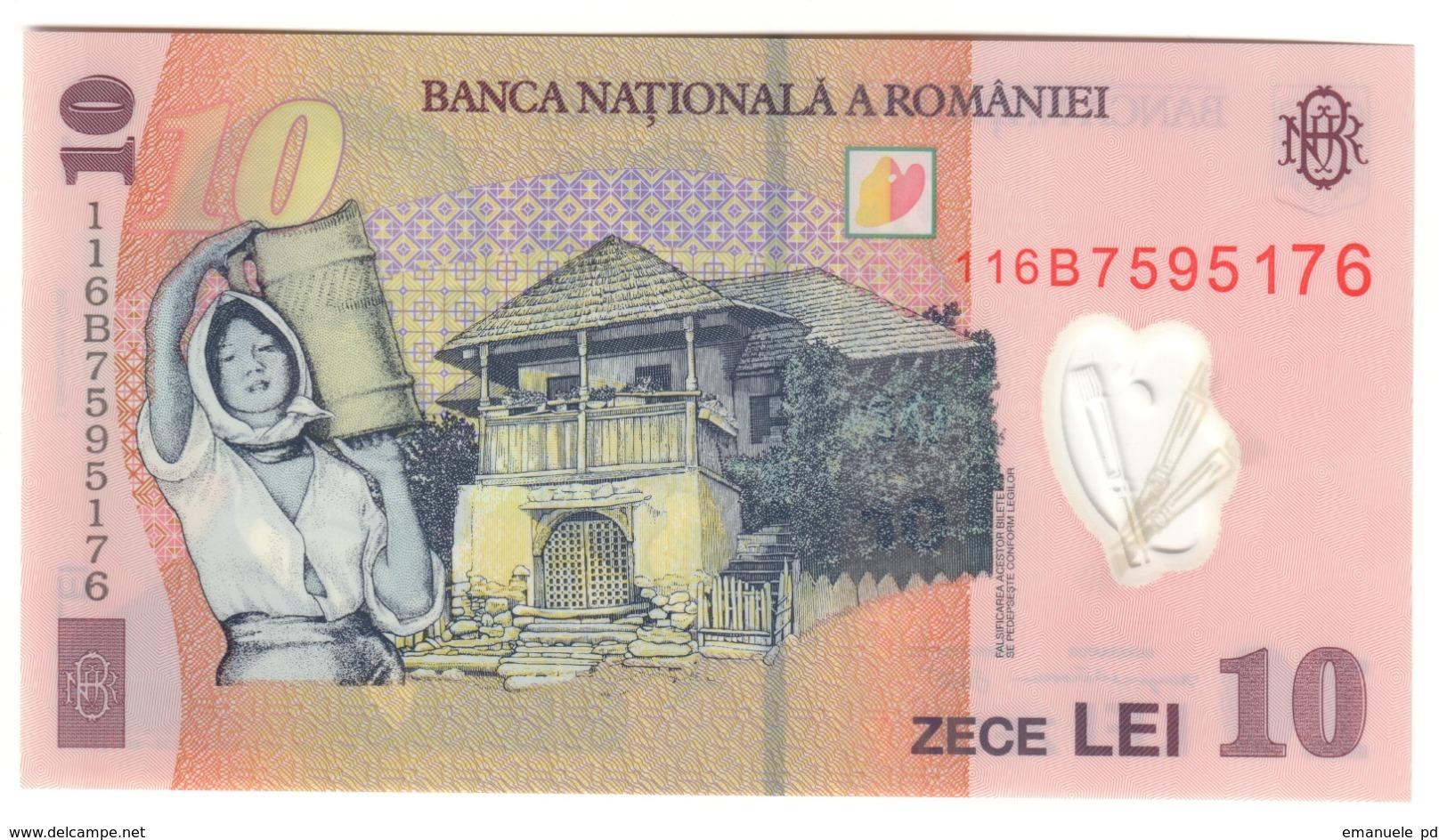 Romania 10 Lei 2011 UNC .PL. - Romania