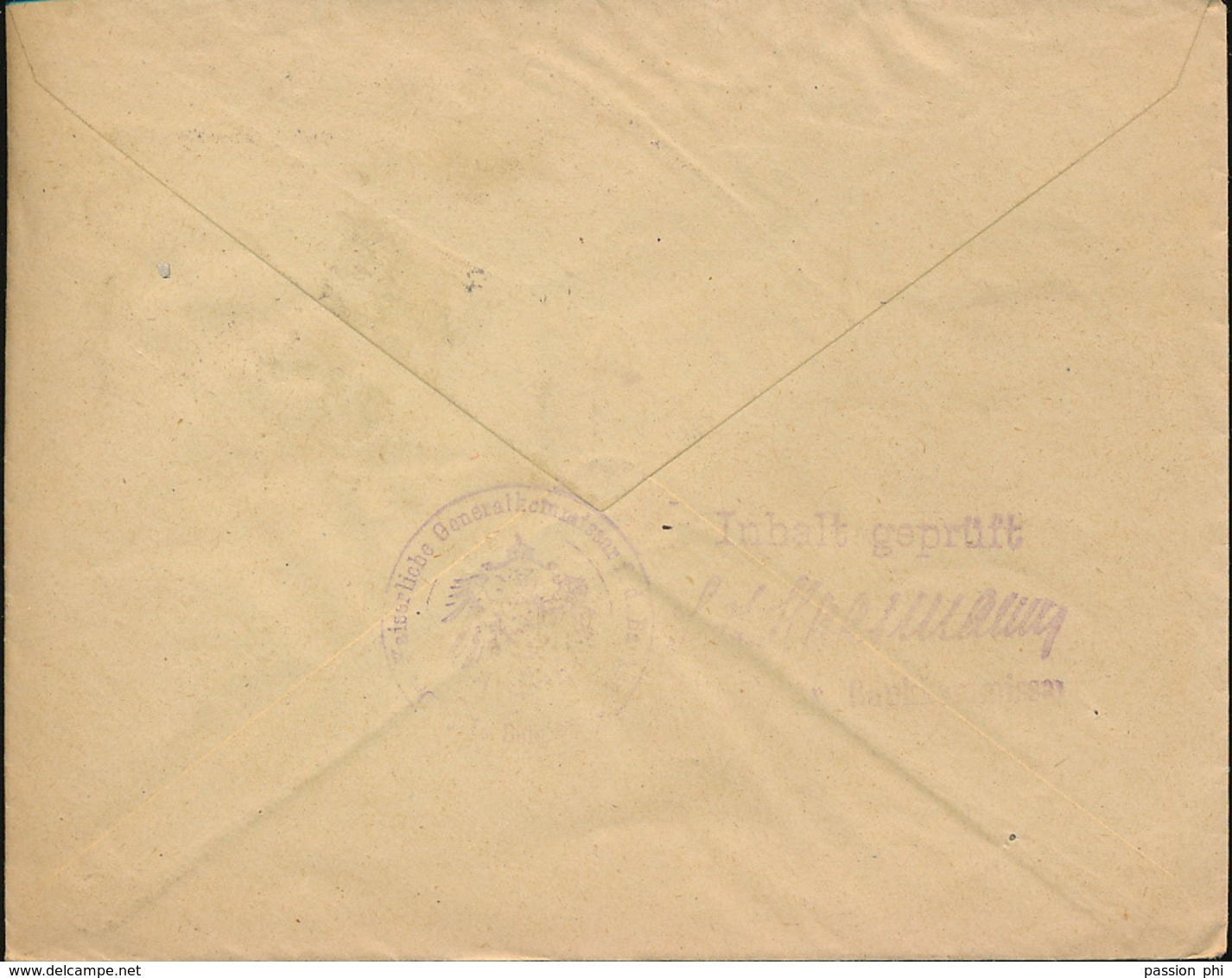 BELGIUM  WW1 COVER FROM BRUSSELS TO LIEGE - WW I