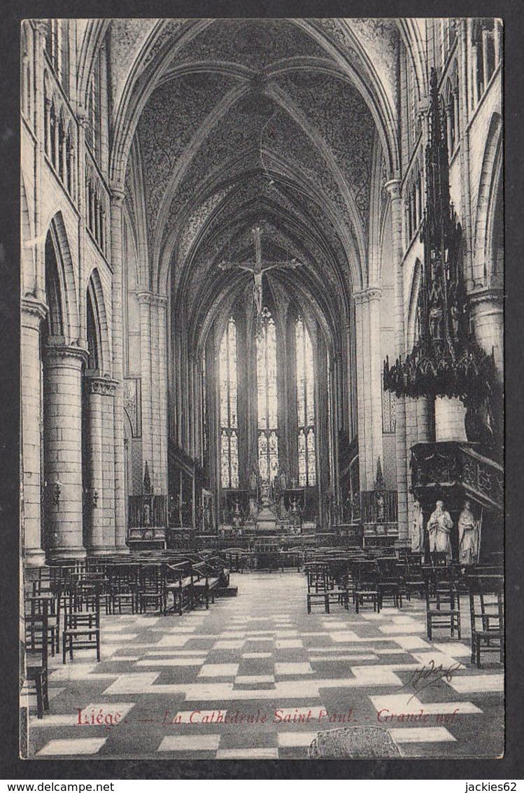 105225/ LIEGE, Cathédrale Saint-Paul, Grande Nef - Lüttich