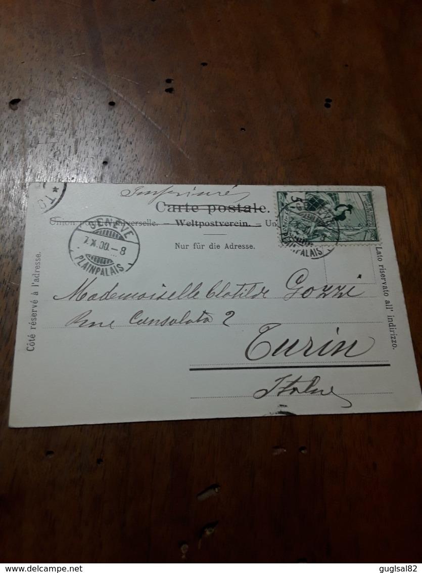Cartolina Postale 1900, Genève, Hôtel Des Postes - GE Genève