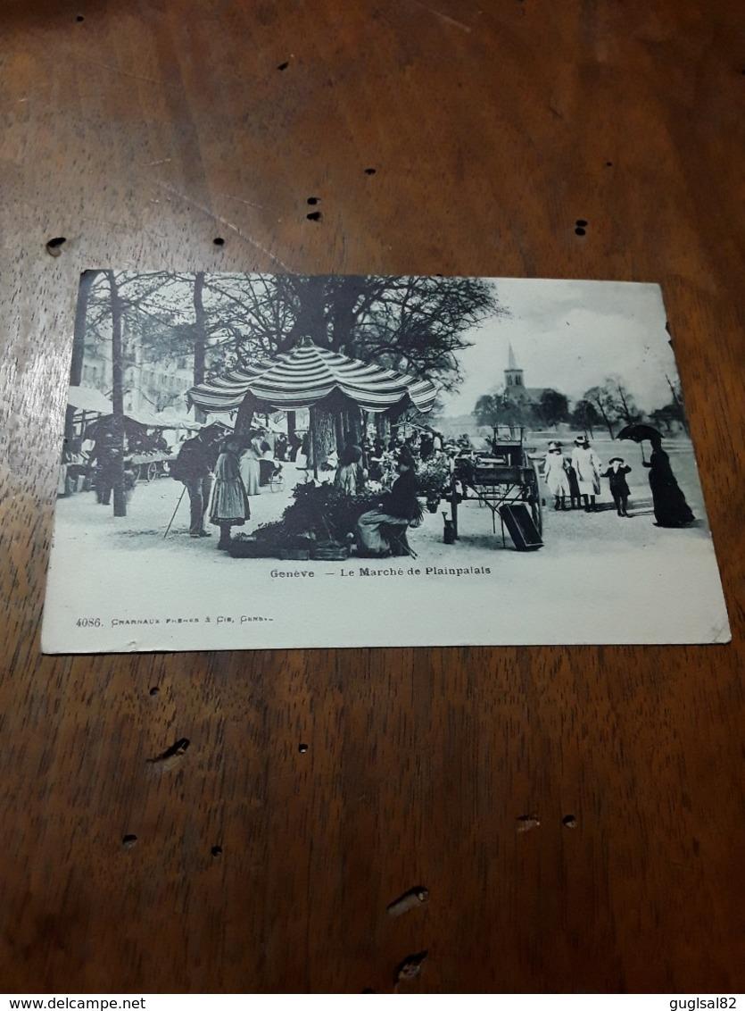 Cartolina Postale 1900, Genève, Le Marché De Plainpalais - GE Genève