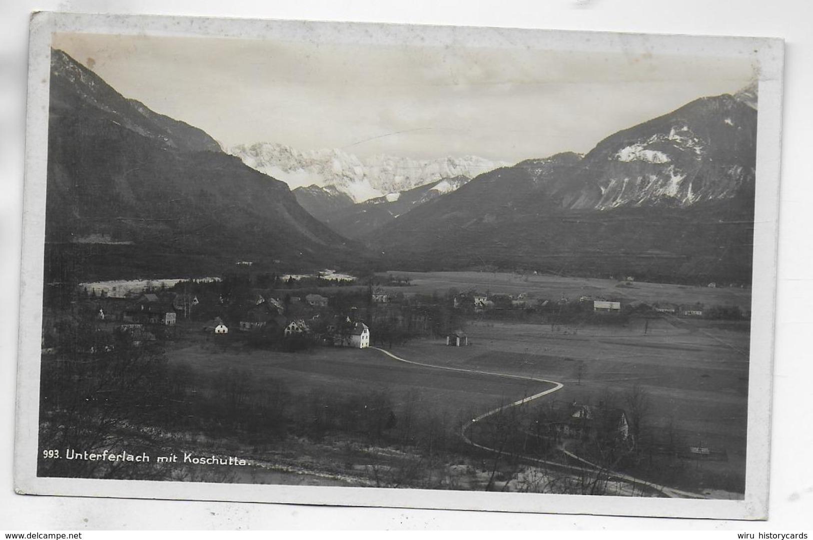 AK 0324  Unterferlach Mit Koschutta - Verlag Schilcher Um 1927 - Ferlach