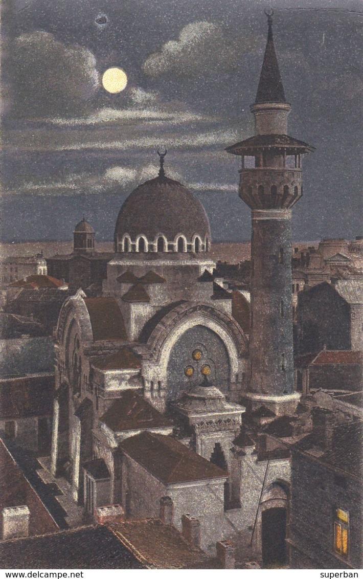 CONSTANTA / ROMANIA : GIAMIA TURCEASCA [ NOCTURNA / À LA LUNE / NIGHT VIEW ] ~ 1925 - '930 (ac923) - Roumanie