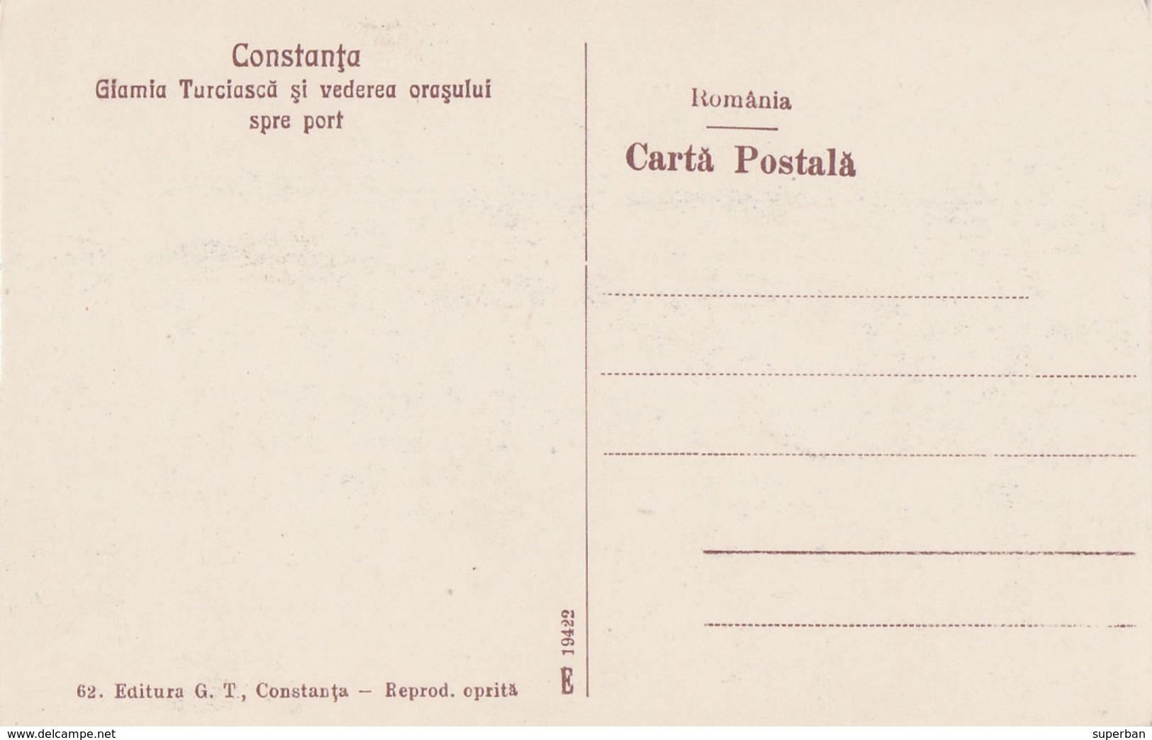 CONSTANTA / ROMANIA : GIAMIA TURCEASCA... [ NOCTURNA / À LA LUNE / NIGHT VIEW ] ~ 1925 - '930 (ac925) - Roumanie