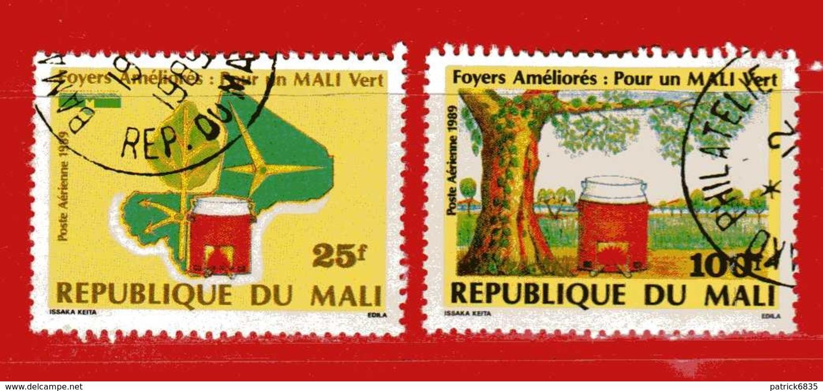 (Us3) MALI °  -1989 - POR Un MALI VERT  - P.A. Yvert 537-538. Oblitérer. - Mali (1959-...)