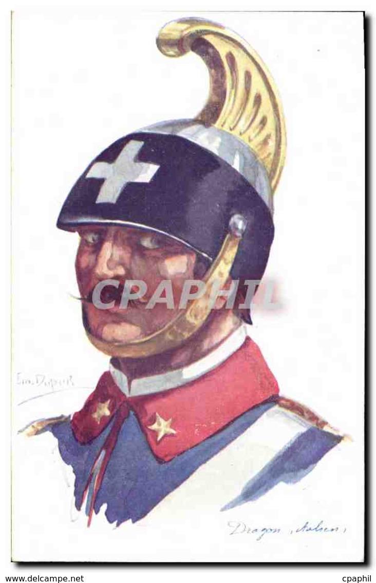CPA Fantaisie Illustrateur Dupuis Militaria Dragon Italien - Dupuis, Emile