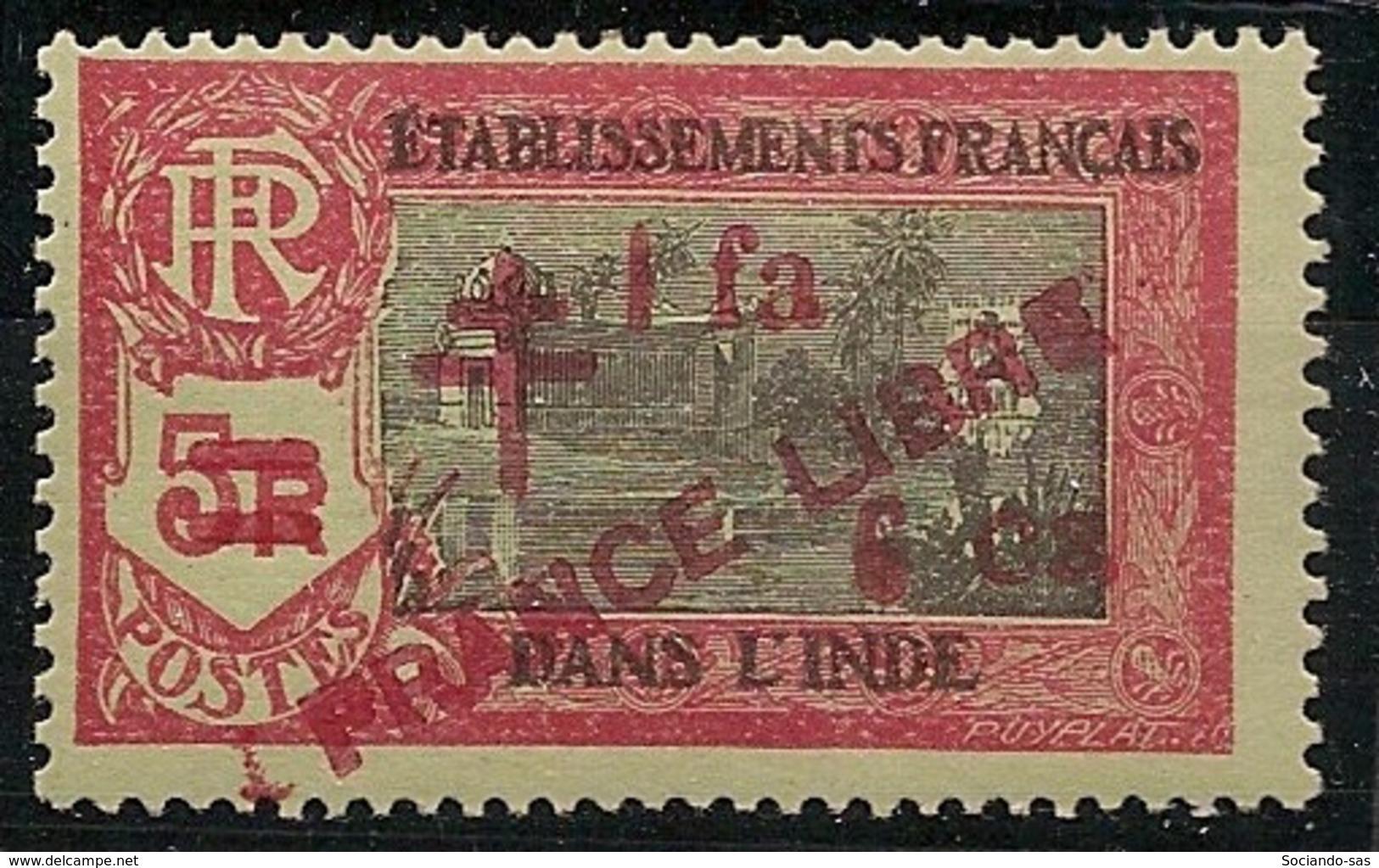 Inde - 1943 - N°Yv. 212b - Variété PRANCE Libre - Neuf Luxe ** / MNH / Postfrisch - Indien (1892-1954)