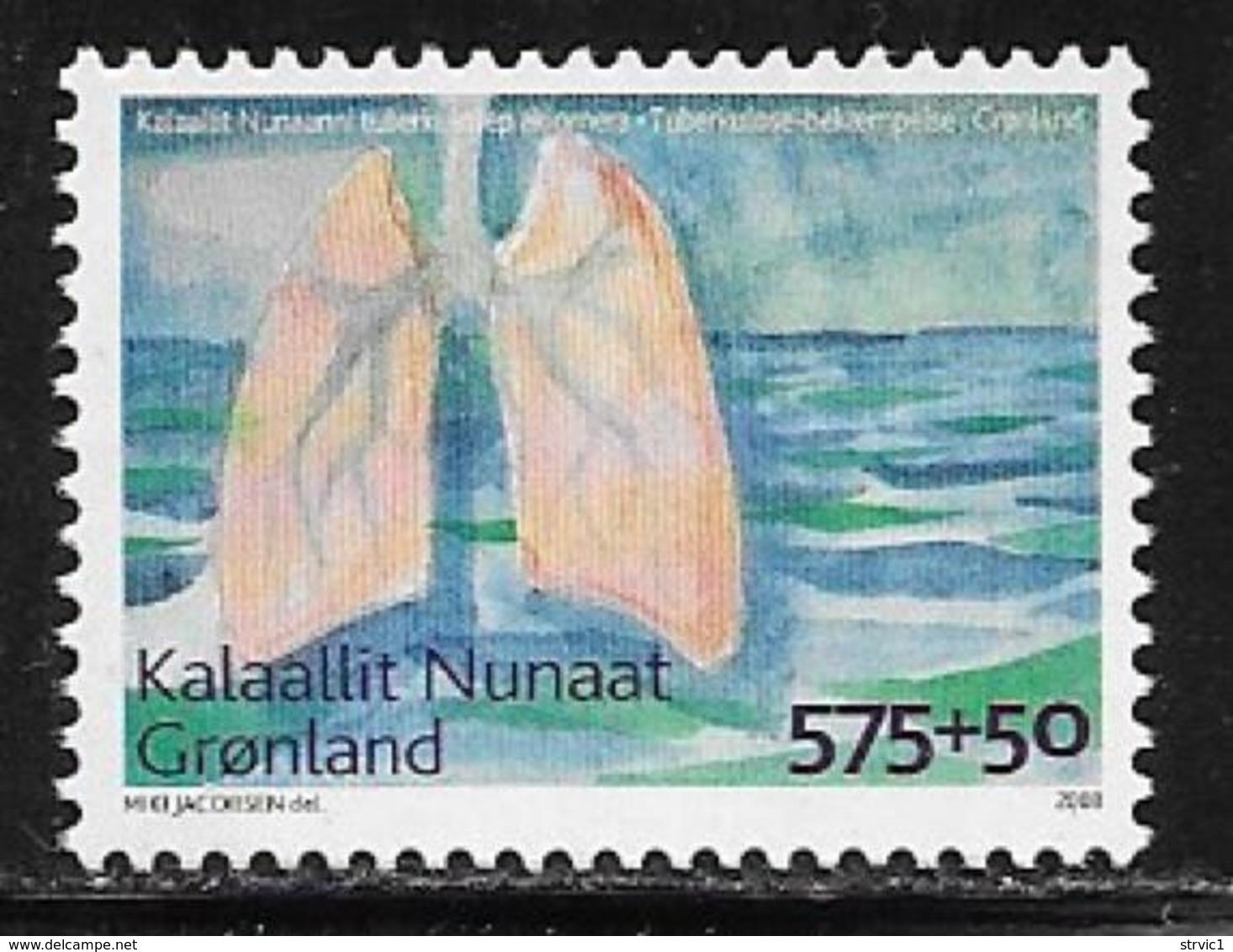 Greenland Scott # B33 MNH Tuberculosis Fight, 2008 - Greenland