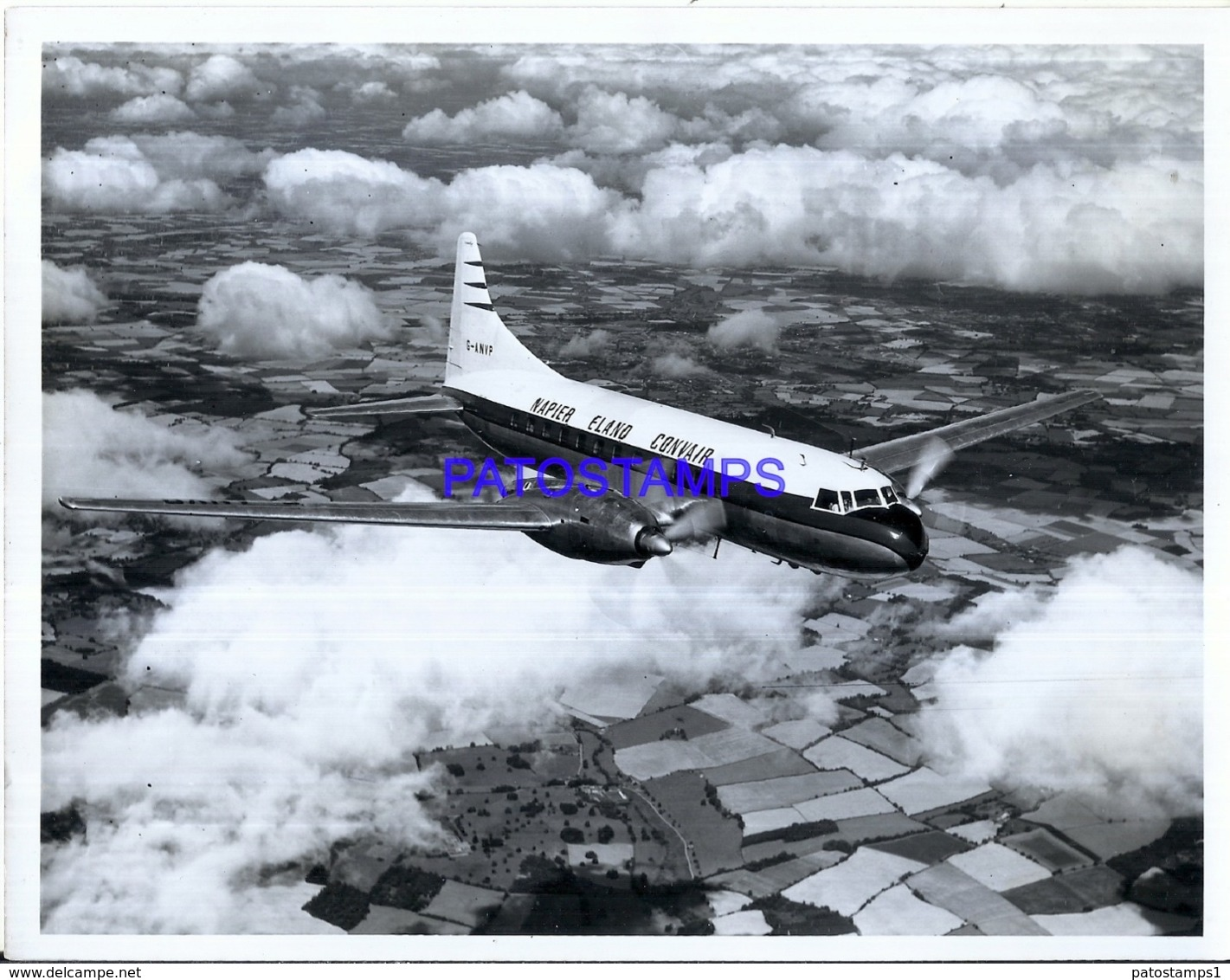 120008 AVIATION AVIACION NAPIER ELANO CONVAIR 21.5 X 16.5 CM PHOTO NO POSTAL POSTCARD - Aviation