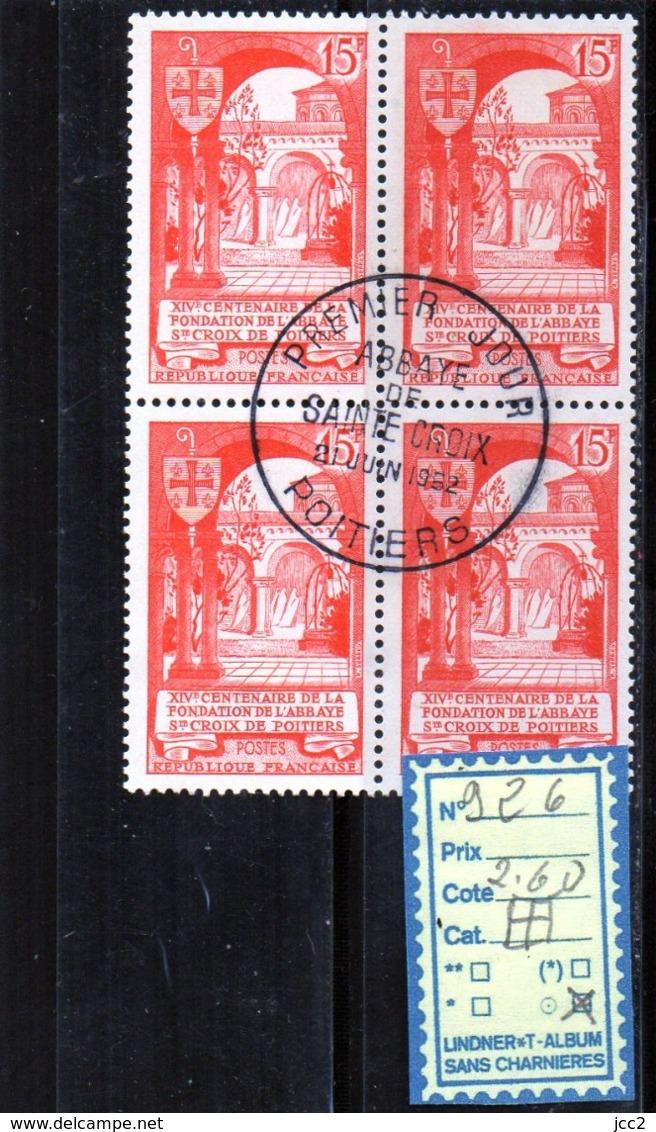 FRANCE OBLITÉRÉ - 926 X 4 - France