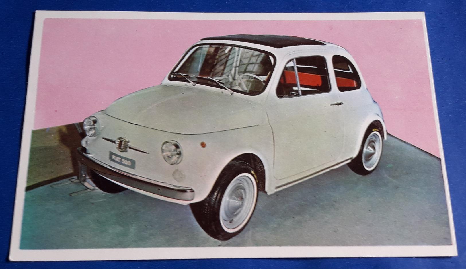 """FIAT 500 # Altes Sammelbild Aus Der Serie """"AUTO 1967"""" Vom Sicker-Verlag In Frankfurt/M. # [19-1948] - Ohne Zuordnung"""