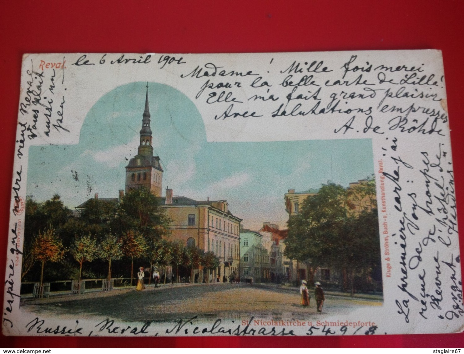 REVAL ST NICOLAIKIRCHE U SCHMIEDEPFORTE - Estland