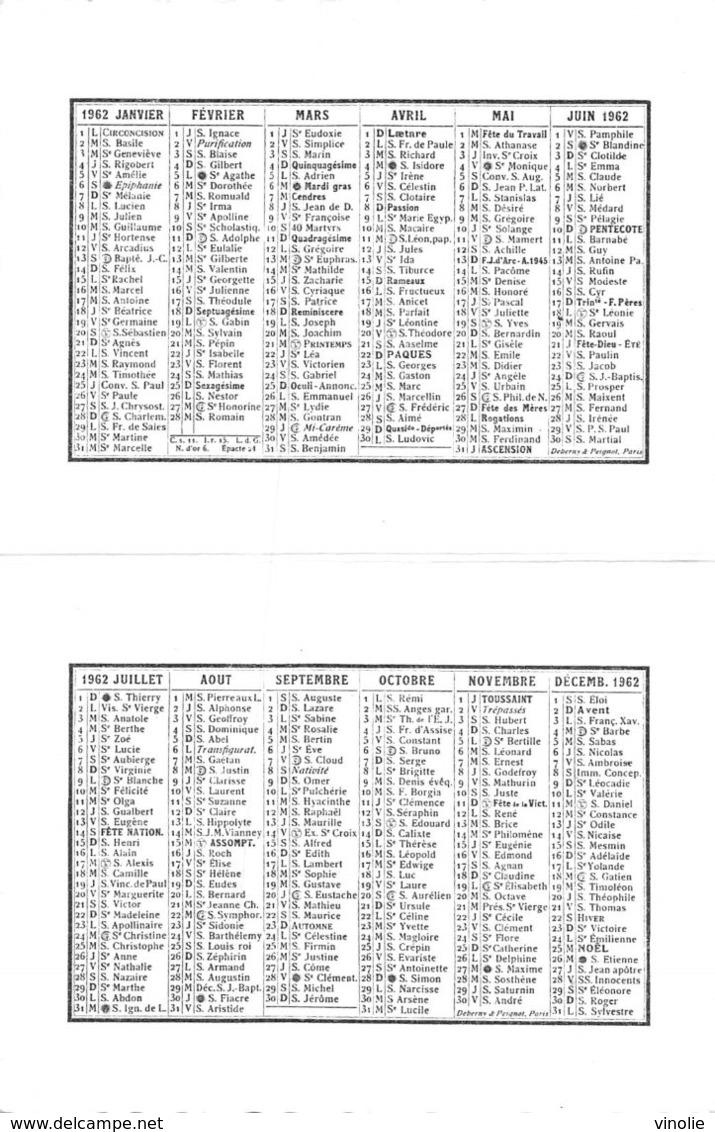 PIE.Z.19-PF.T-1142 : CALENDRIER  1962 LIBRAIRIE BILLERET. FORT-LAMY. TCHAD. - Petit Format : 1961-70