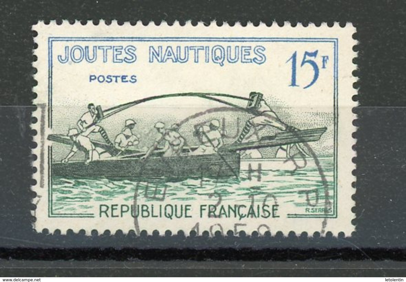FRANCE - JOUTES NAUTIQUES - N° Yvert 1162 Obli. Ronde De EVREUX 1958 - Oblitérés