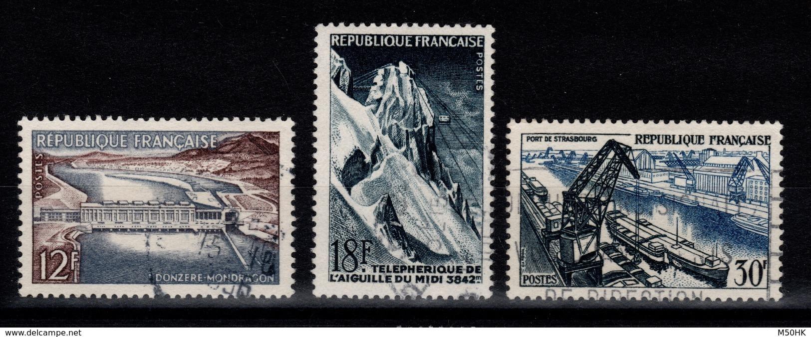 YV 1078 à 1080 Obliteres Cote 11,50 Euros - France