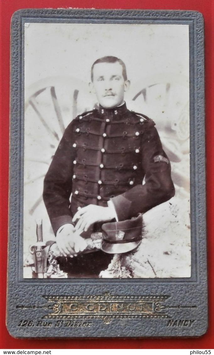 54 NANCY C. ODINOT Photo CDV Petit Format Observateur Du 5e Rgt D ' Atrillerie - War, Military