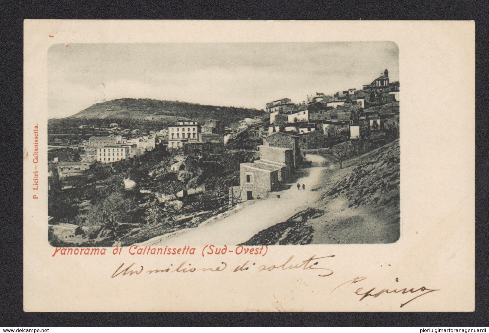 18541 Caltanissetta - Panorama Di Caltanissetta F - Caltanissetta