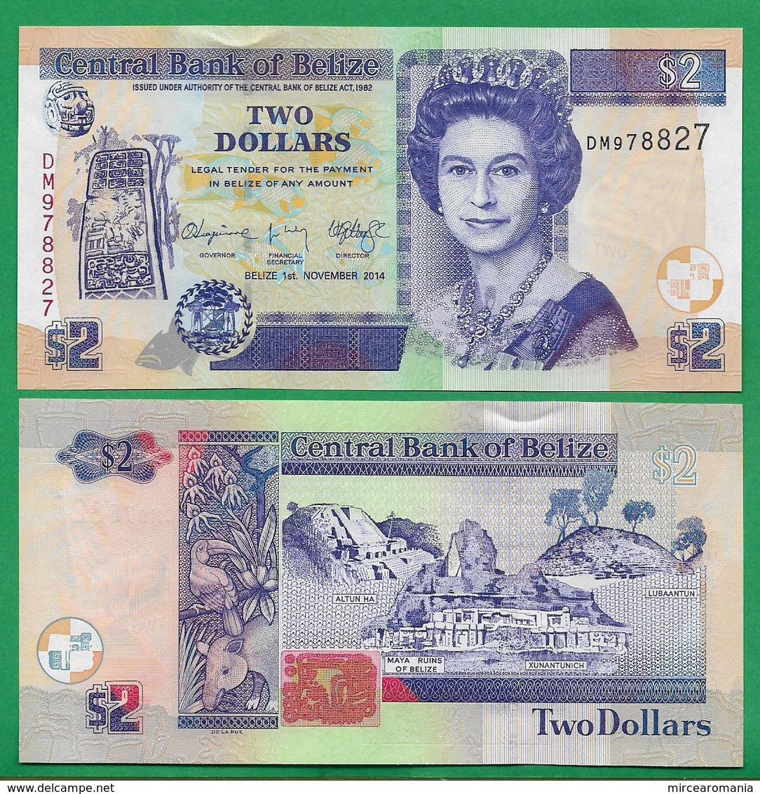 BELIZE - 2 DOLLARS – 2014 - UNC - Belize