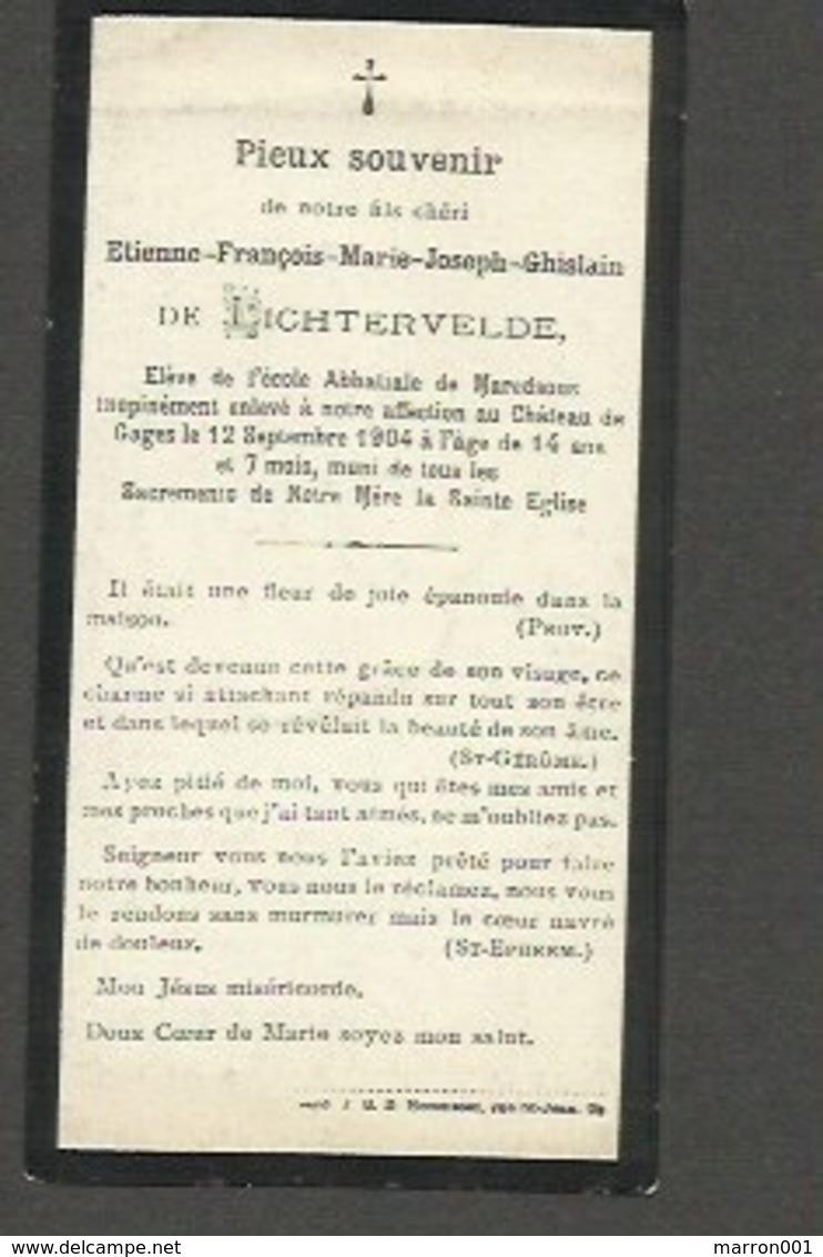 Adel - Etienne De Lichtervelde , Chateau De Gages 12 Sept 1904 - Imágenes Religiosas
